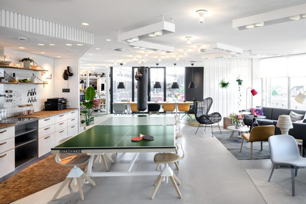 Communal area at the Zoku Amsterdam Apartments