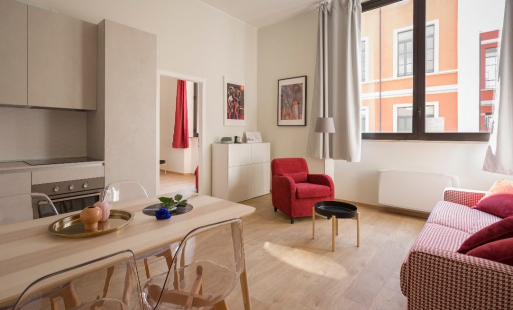 Relocating apartments are comfortable and bright