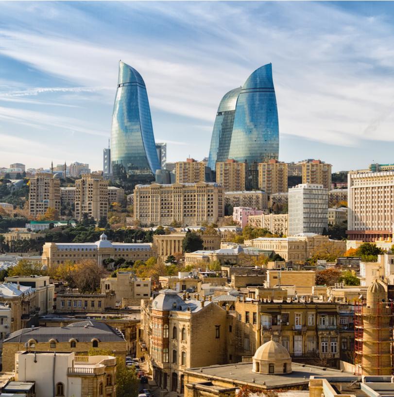 Azerbaijan skyline and cityscape