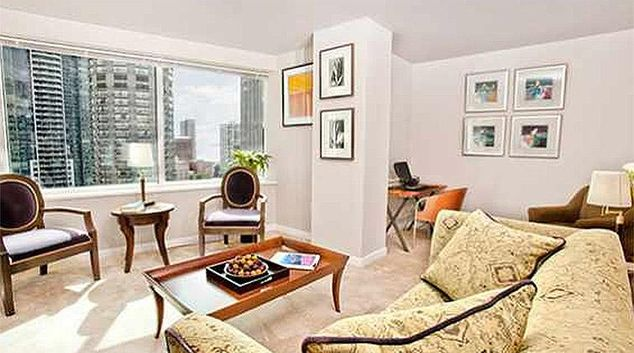 Living area at Met Tower Apartment