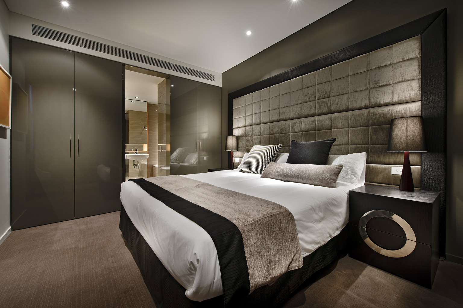 Cosy bedroom at Fraser Suites Perth