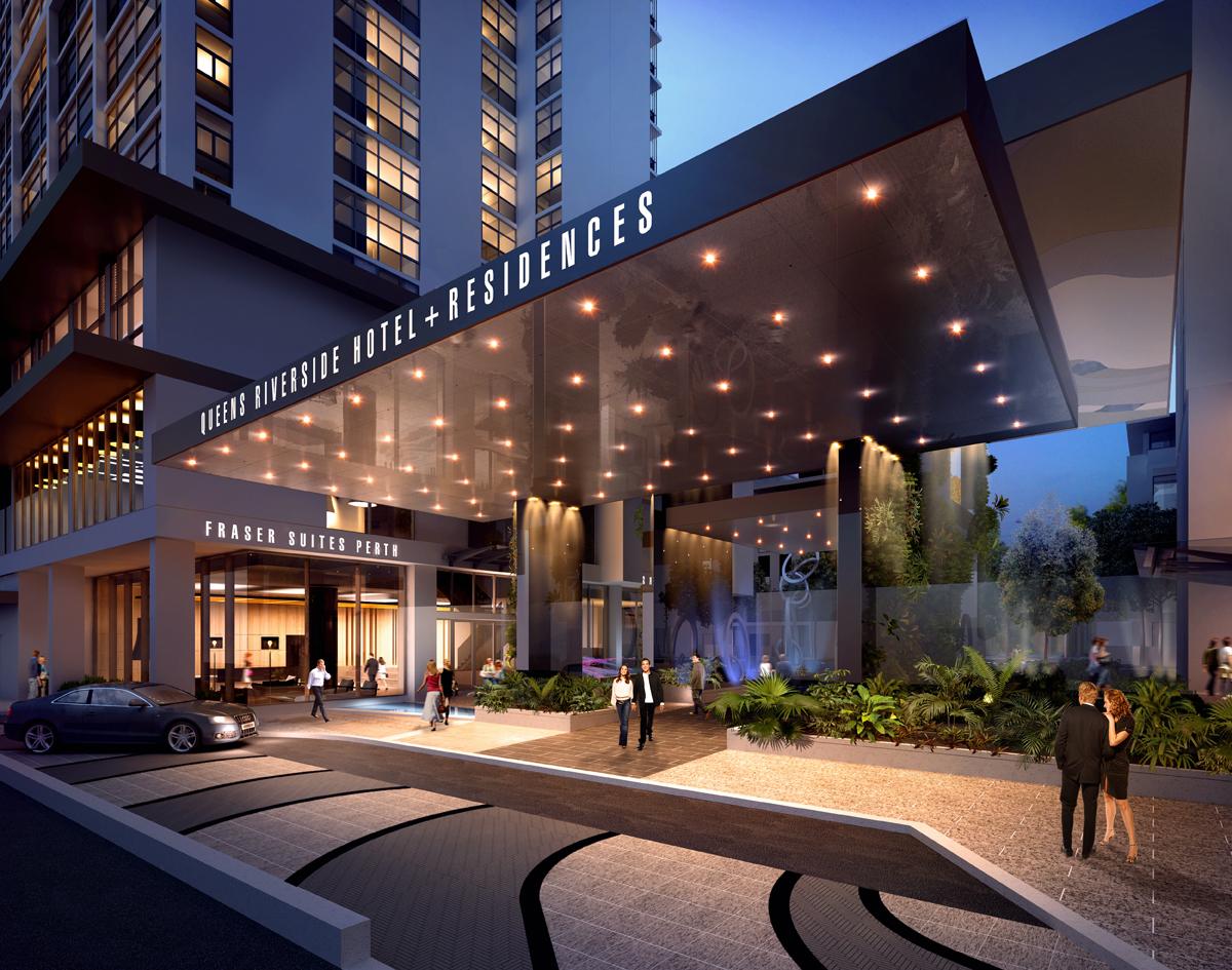 Hotel Entrance at Fraser Suites Perth
