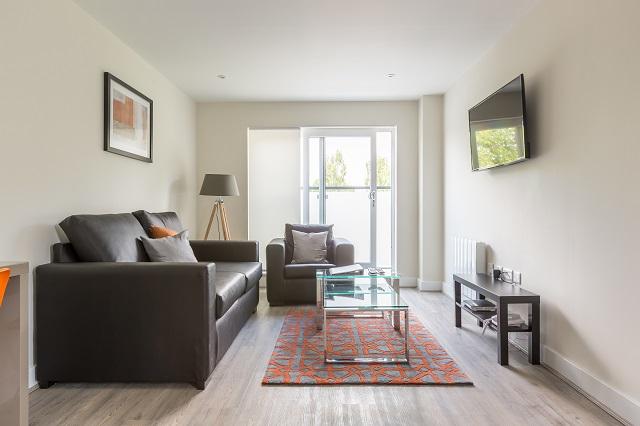 Sofa at Solstice House Apartments