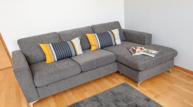 Comfortable living area at College Street Apartment