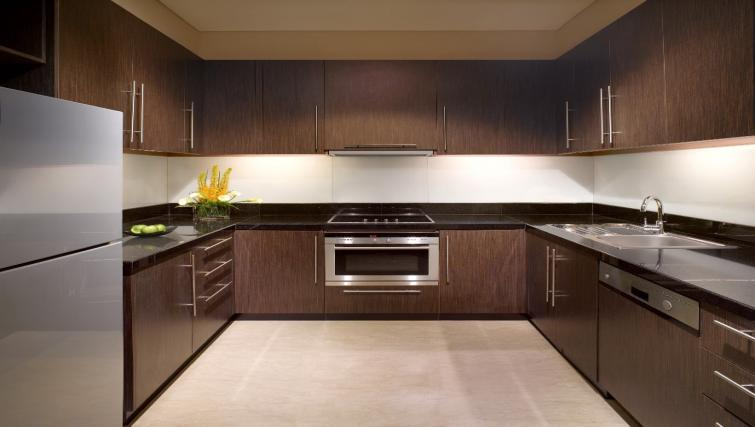 Fully equipped kitchen at The Ritz-Carlton Jakarta Apartments