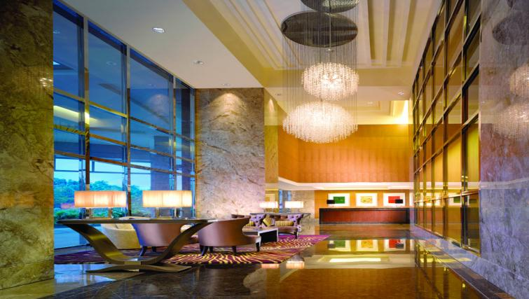 Communal lobby at The Ritz-Carlton Jakarta Apartments