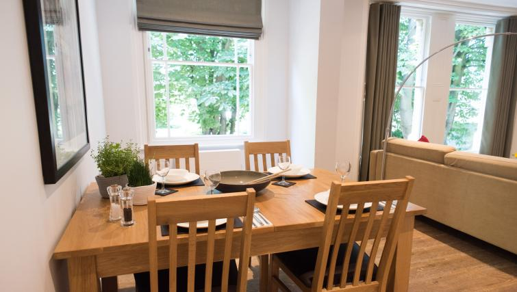 Dining table at Jubilee House Apartments