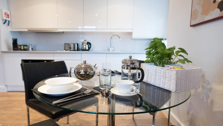 Breakfast dining area at Jubilee House Apartments