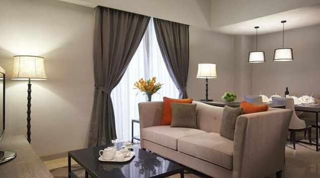 Sophisticated living area at Regency House Apartments, Singapore