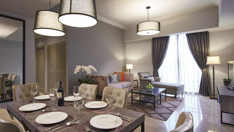 Dining table at Regency House Apartments, Singapore