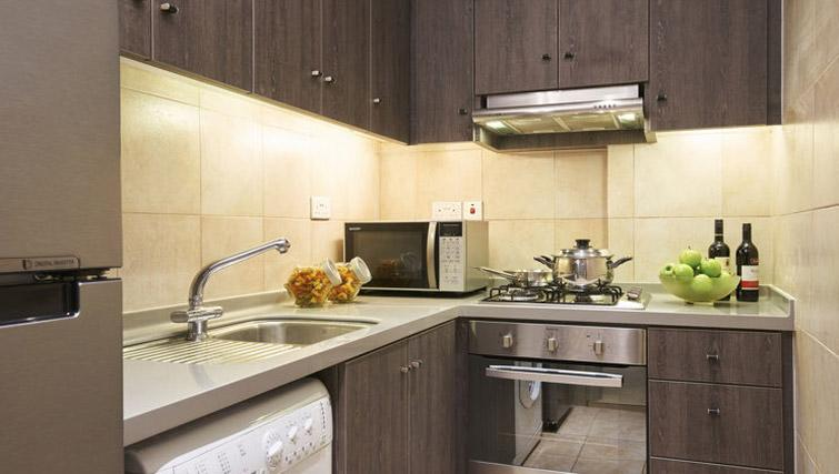 Fully equipped kitchen at Regency House Apartments, Singapore