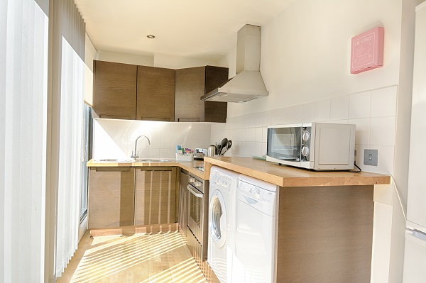 Kitchen at Watling Street Apartments