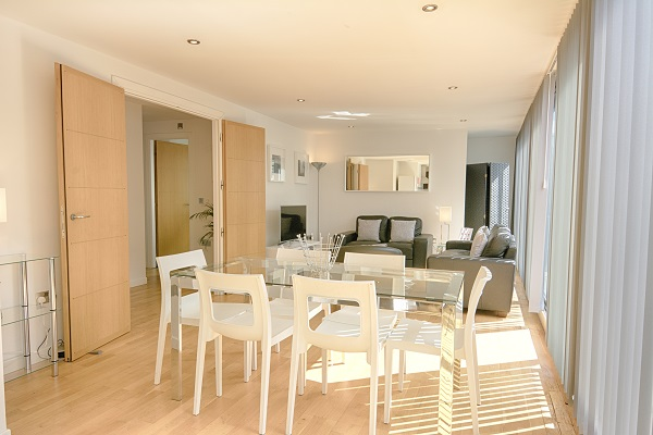 Bright living area at Watling Street Apartments