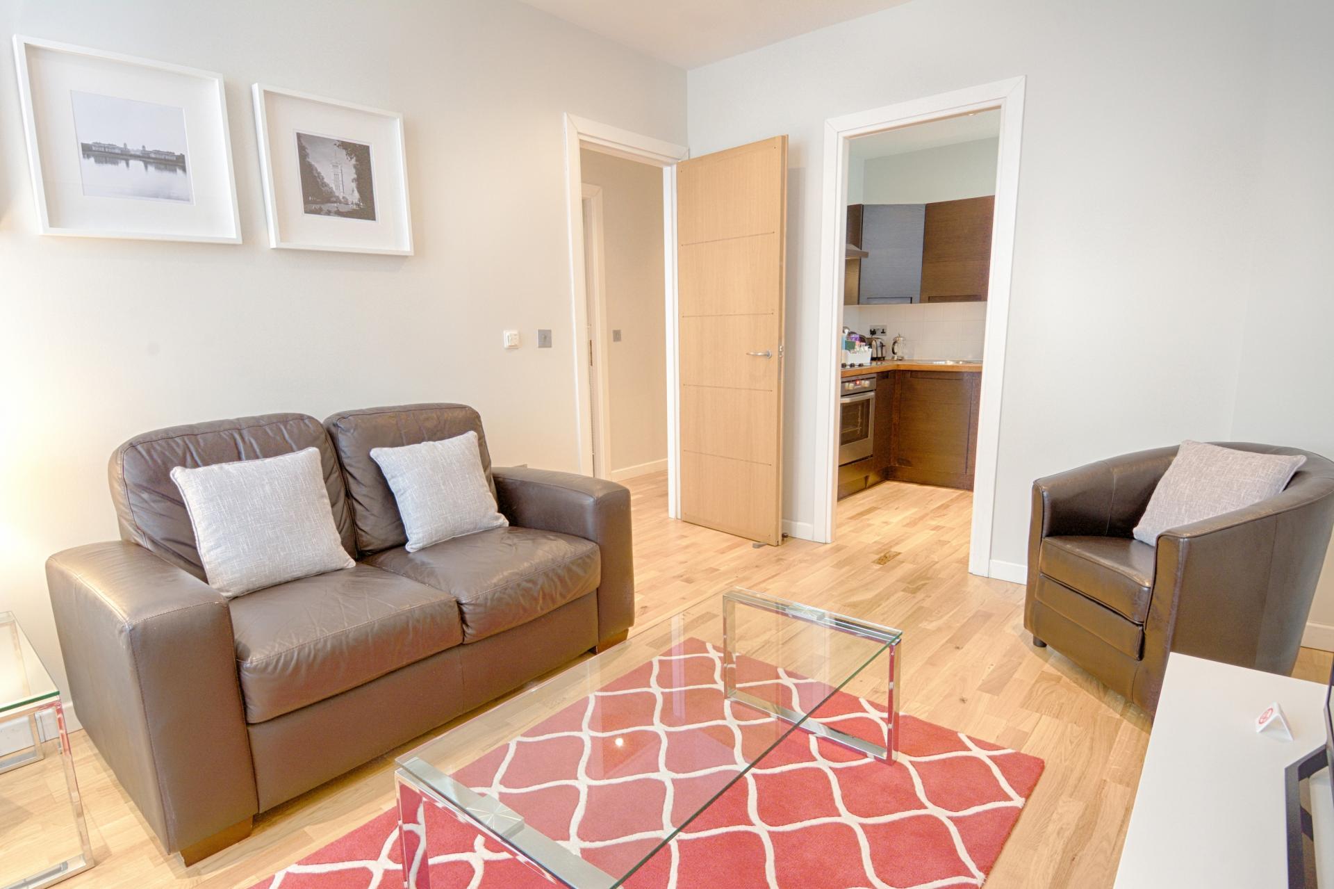 Sofa at Watling Street Apartments, St Pauls, London