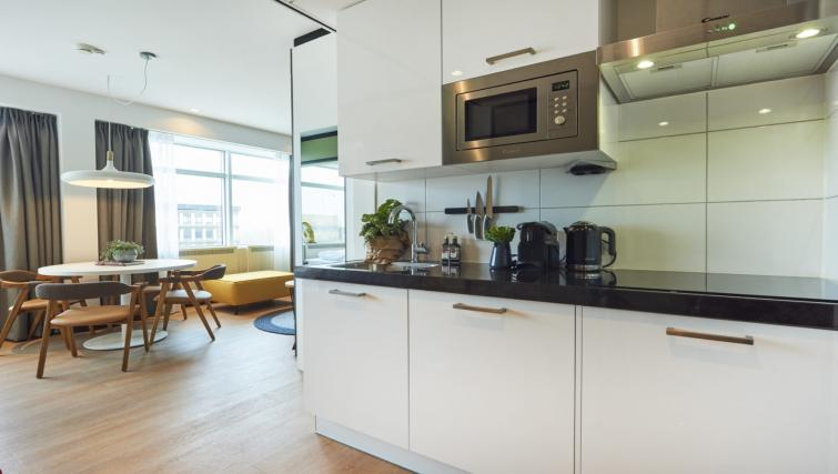 Fully equipped kitchen at Cityden Up Apartments, Amsterdam