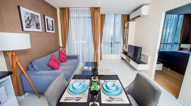 Living room at Movenpick Residences Bangkok