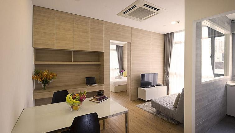 Living area at Oxley Thanksgiving Residence, Singapore