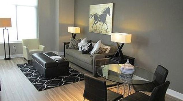 Living area at Gallery Bethesda Apartments