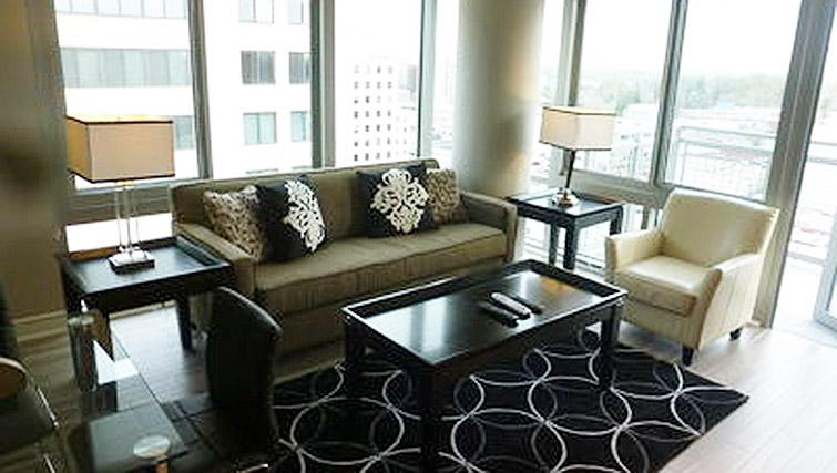 Living space at Gallery Bethesda Apartments