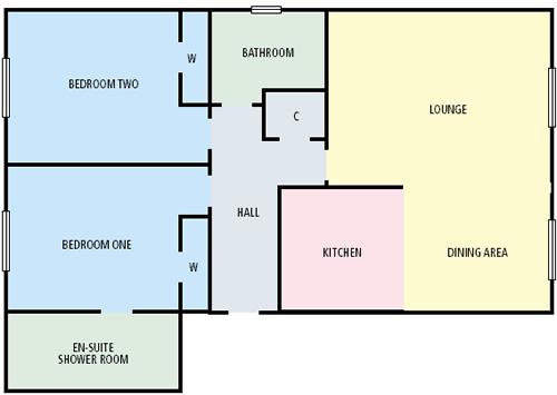 Floor plan of Wellgreen Gate, Centre, Stirling