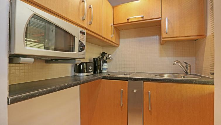 Basic kitchenette at Nell Gwynn Apartments