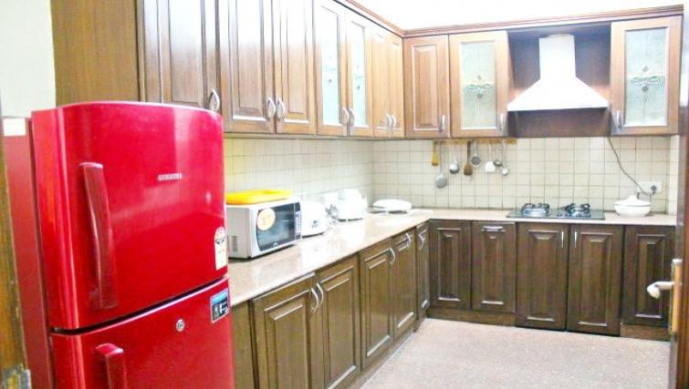 Basic kitchenette in N-129 Apartments