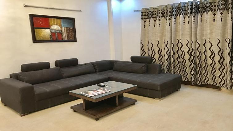 Stylish living area at N-129 Apartments
