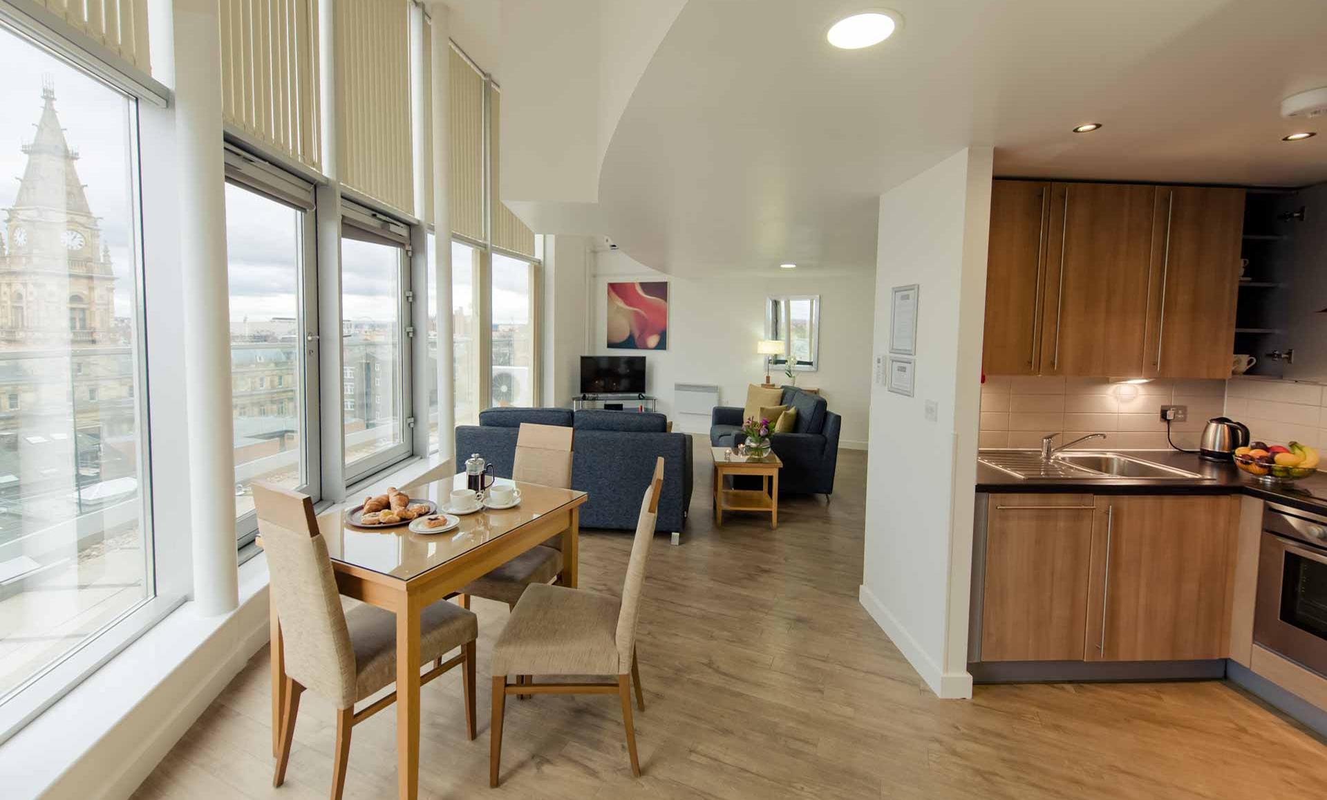 Open-plan at Premier Suites Liverpool