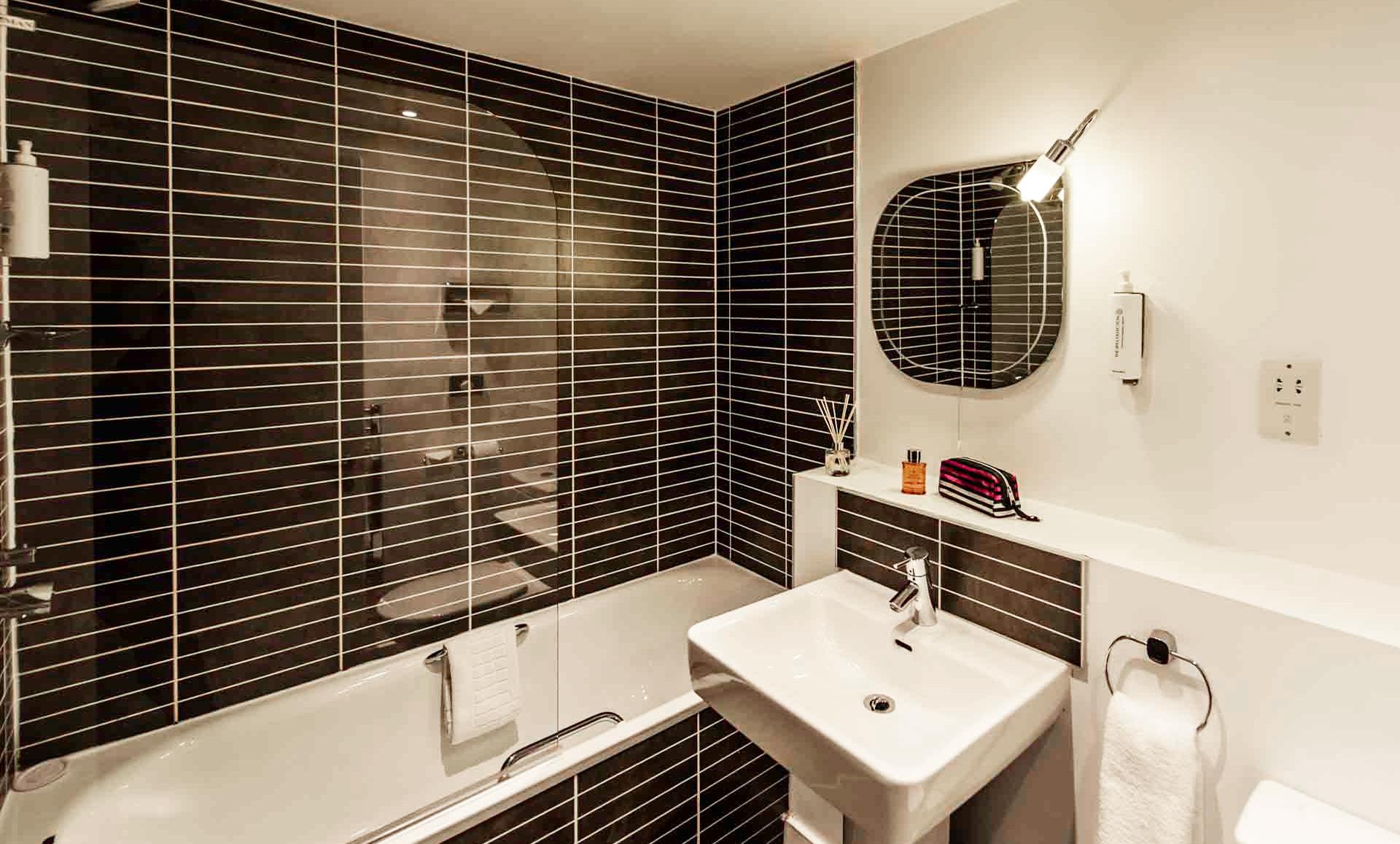 Bathrooms at Premier Suites Liverpool