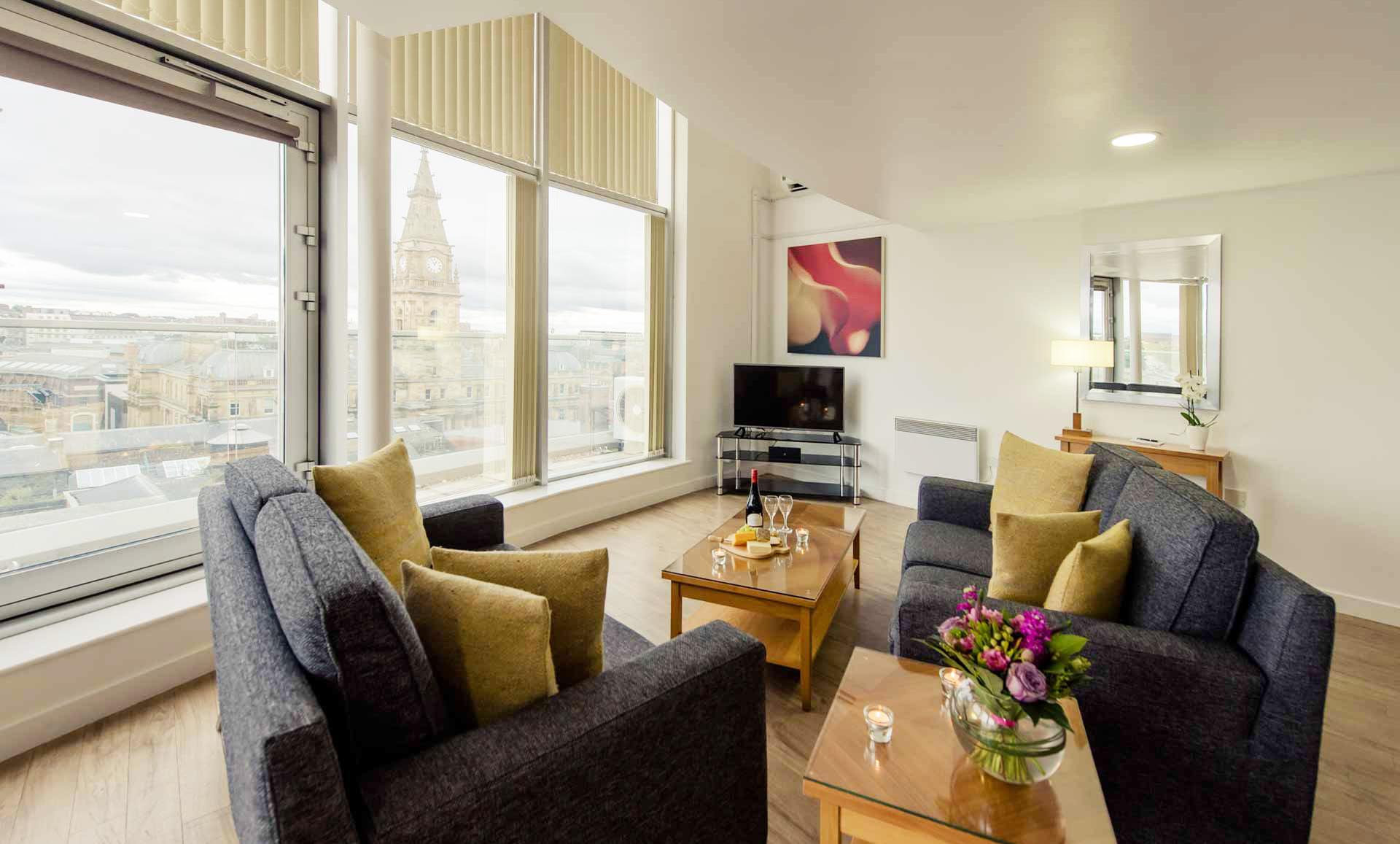 Living room at Premier Suites Liverpool