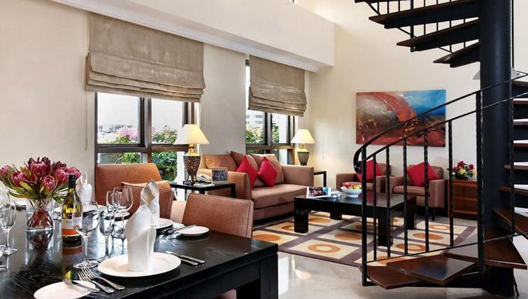 Living area at Orchard Park Suites, Singapore