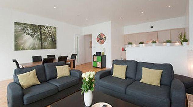 Comfortable living area at Glasgow City Flats - Matrix Apartments