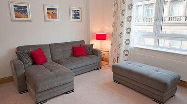Stylish living area at Glasgow City Flats - Palazzo Apartment