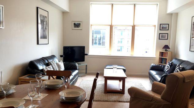 Living room at Chrysalis Apartment