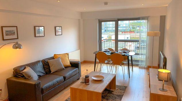 Living area at College Apartment