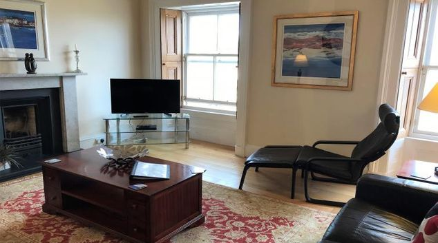 Living room at Crown Circus Apartment