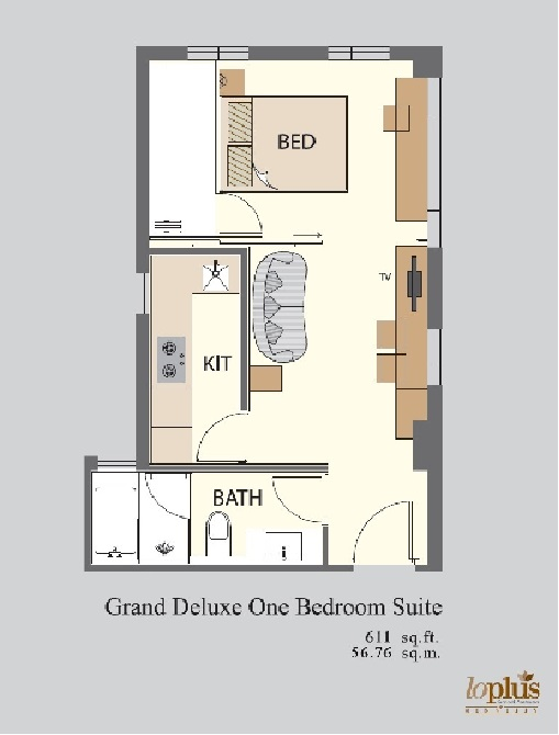 Floor plans at Hennessy Apartments