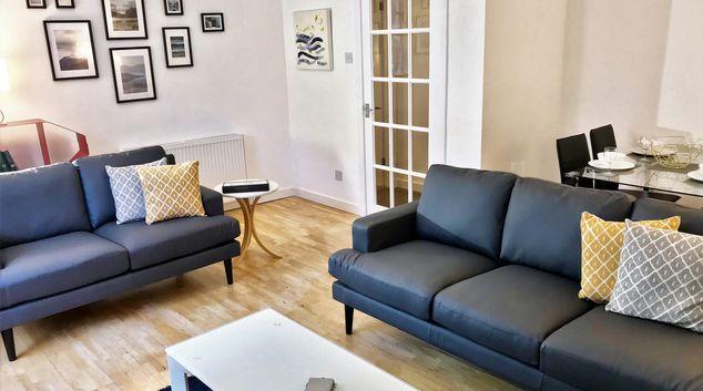 Living area at Lansdowne Garden Apartment
