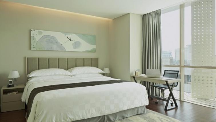 Bed at Fraser Residence Menteng Jakarta