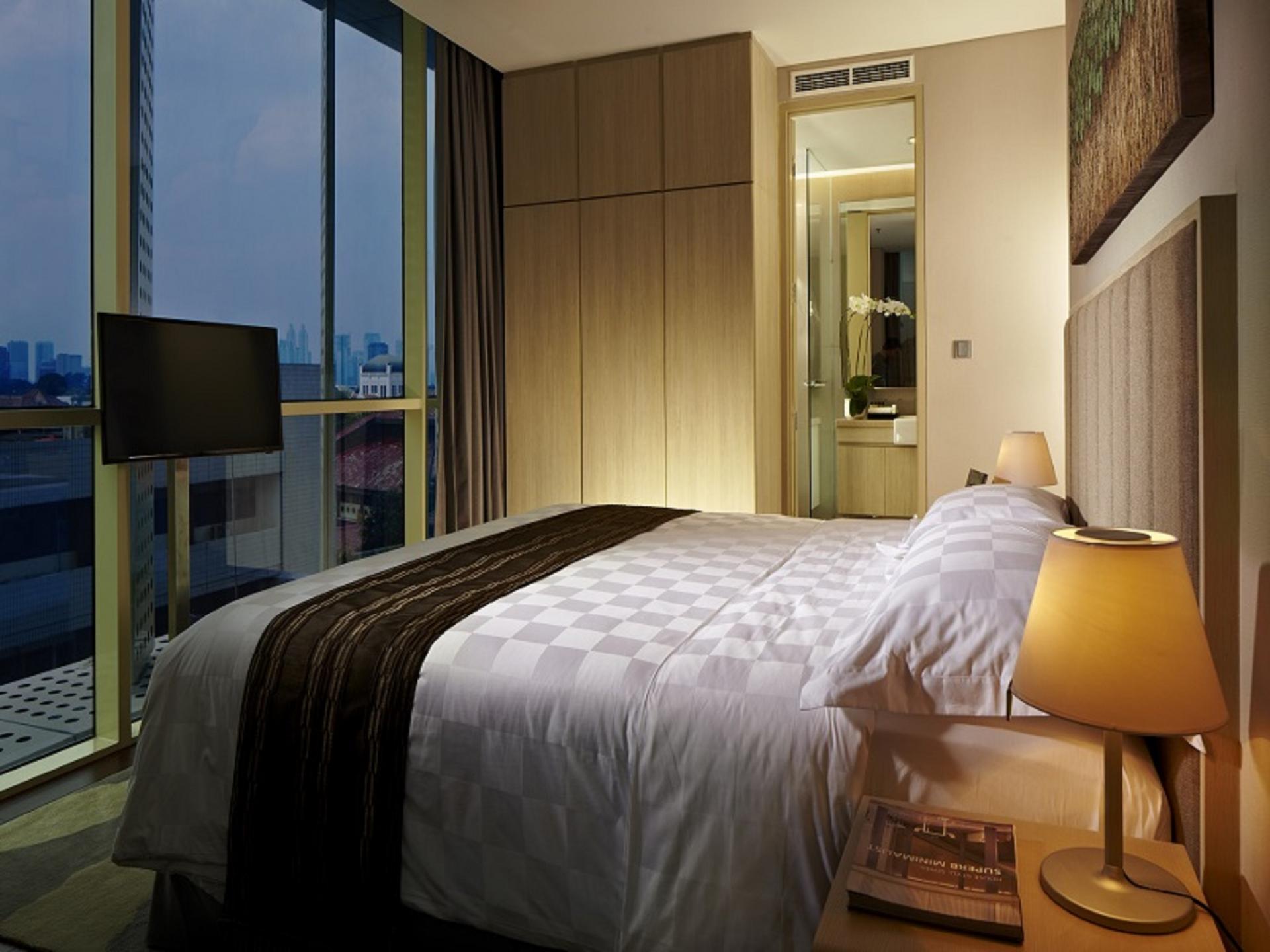 Master bedroom at Fraser Residence Menteng Jakarta, Centre, Jakarta