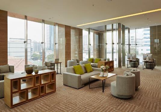 Resident lounge at Fraser Residence Menteng Jakarta, Centre, Jakarta