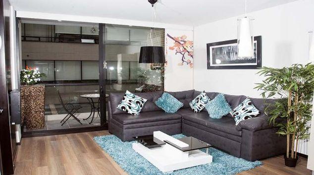 Living area at Iris Apartment