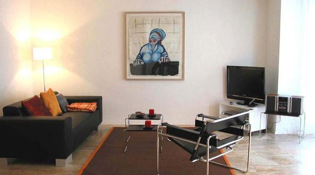 Living area at Poststrasse 24 Apartments