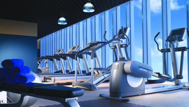 Gym at Premier Cozmo Apartments