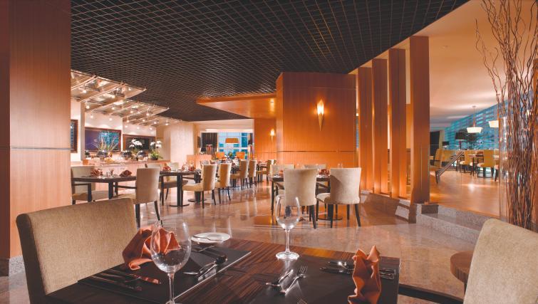 Impressive restaurant at Premier Cozmo Apartments