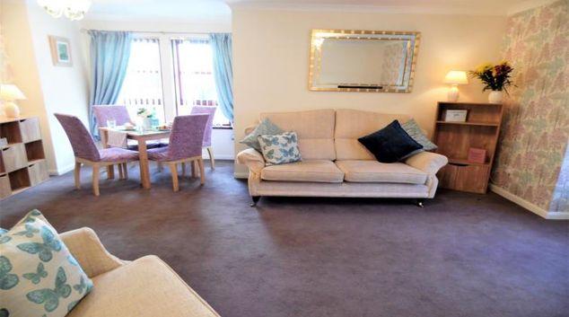 Spacious living area at Douglas View Blantyre
