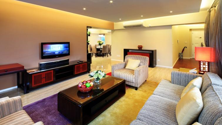 Living room at Oakwood Gold Arch Residence Guangzhou