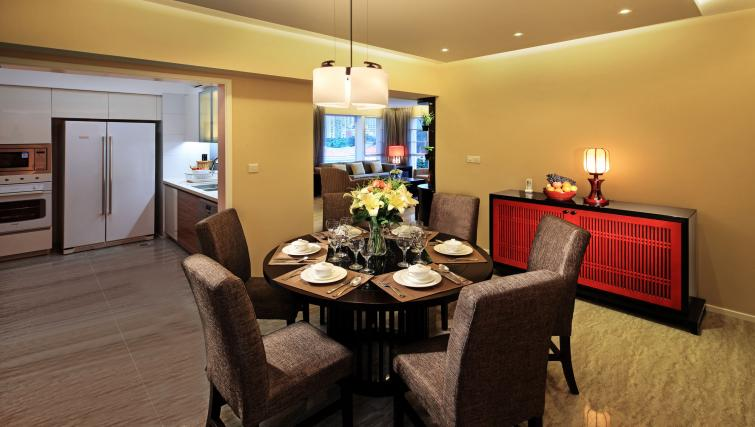 Dining room at Oakwood Gold Arch Residence Guangzhou
