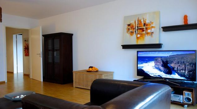 Living area at Karlstrasse Apartments