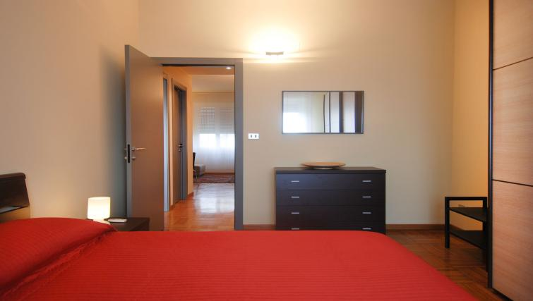 Double bed at Domenichino Apartment